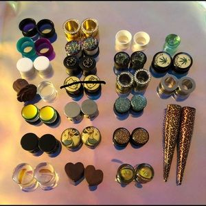1/2 and 7/16 Gauges, Tunnels, Plugs and Tapers Set